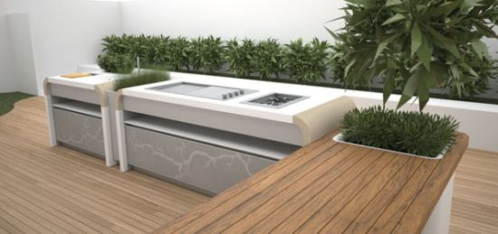 Electrolux outdoor kitchen contemporary kitchen set in for Kitchen set electrolux
