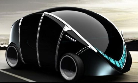 Eco Factor Concept Vehicle For The Year 2020 Designed To Run On Electromagnetic Wheels