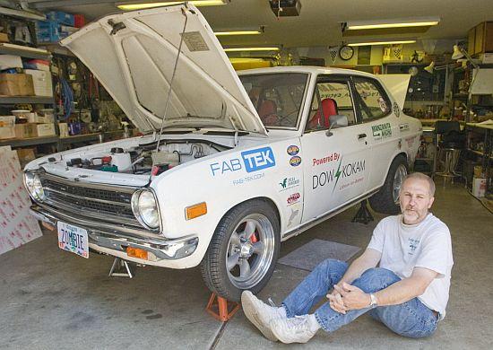 Electric Drag Race Car White Zombie
