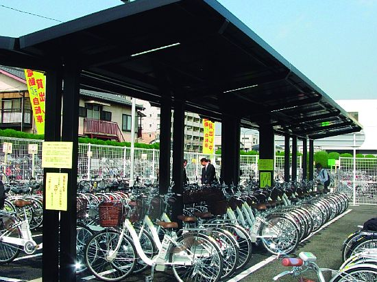 Sanyo Installs New Solar Powered Stand For Electric Assist Bikes
