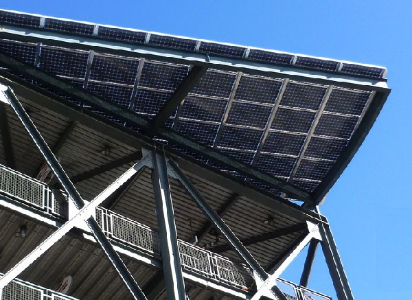 Seattle Mariners Install Double Solar Panel System In
