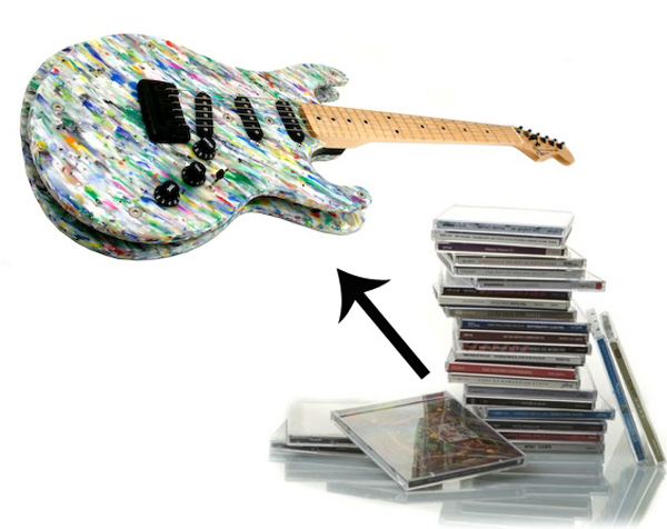 Eco friendly music instruments made from recycled for What to make from waste material