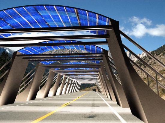 Solar Arch Scalable Tunnel Generates Solar Energy
