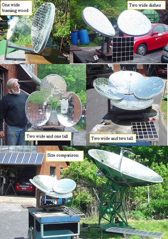 Eco DIY: Turn old small satellite dishes into energy ...