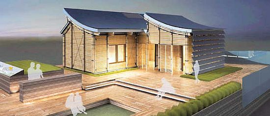 Tongji university creates self sufficient house for solar for Self sufficient home designs