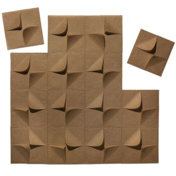 Recyclable 3d Wallpaper Tiles Made Of 100 Recycled Paper