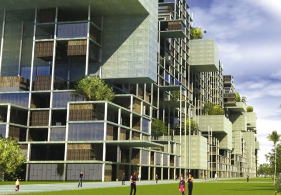 Vertical Massive Invasion To Provide Green Housing To Slum