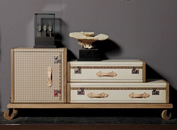 Vintage luggage furniture not a waste but a home decor