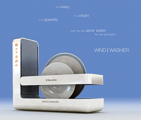 eco gadgets save water by washing dishes with air ecofriend. Black Bedroom Furniture Sets. Home Design Ideas