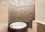 Bathroom with jacuzzi and mosaic