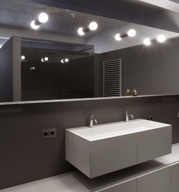 contemporary wall lights bathroom mirror fluorescent 54240