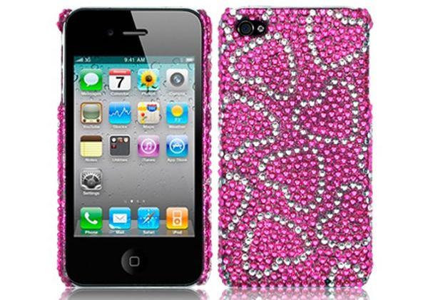 iPHONE 4 -4S LOVE HEART DIAMANTE CASE
