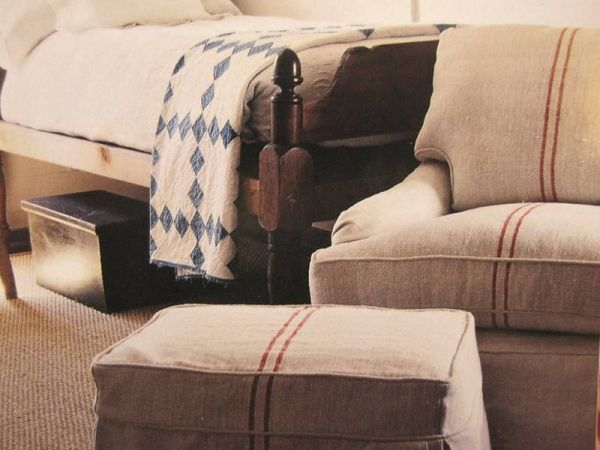 Antique-19th-hemp-5.3yds-upholstery-fabric-Indigo