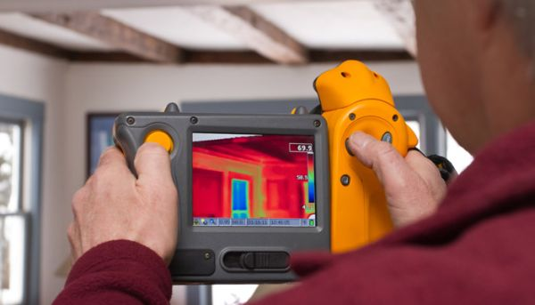 Home energy audit with the help of Infrared camera