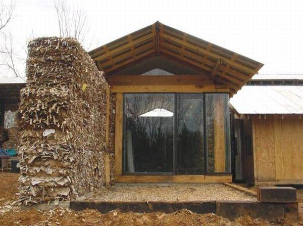 Corrugated fiberboard house