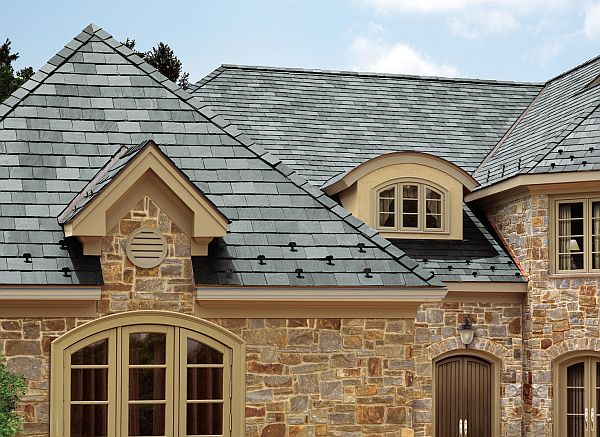 Recycled-content shingle roof