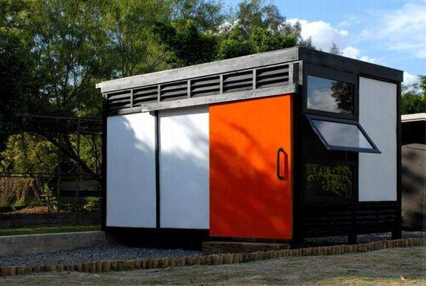 Recycled fiberglass house