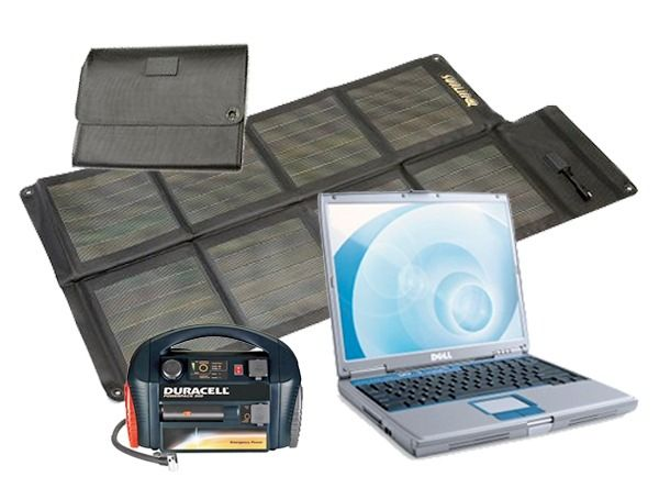 Solar Laptop Charger & Portable Power Kit