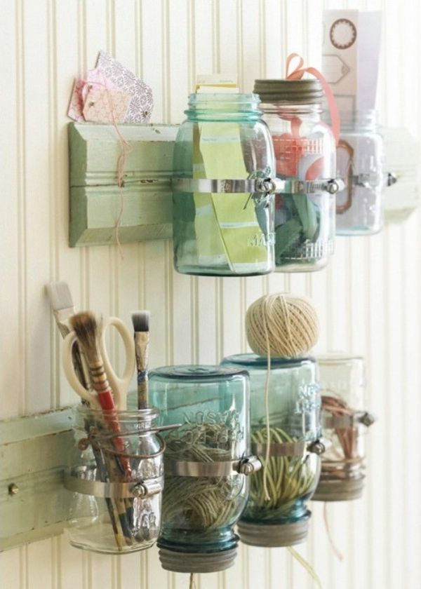 fit mason jars in those clamps and store anything