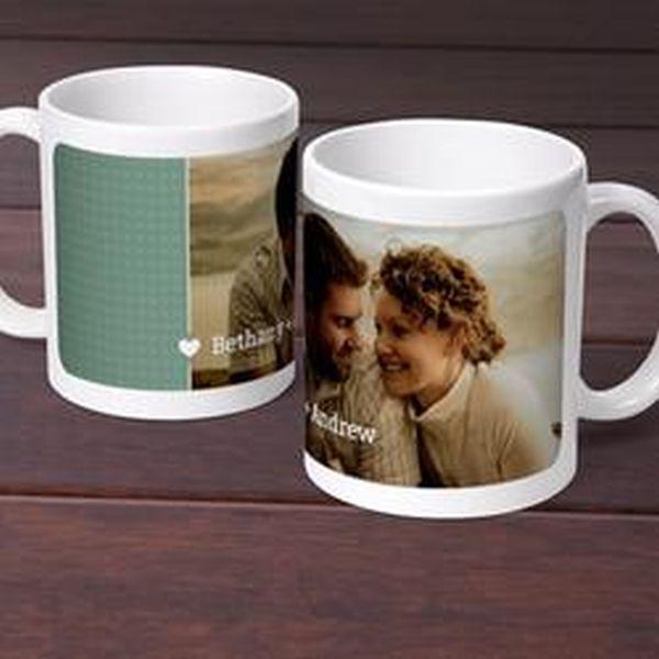 Mini hearts personalized photo mug
