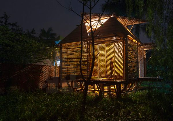 The bamboo houses