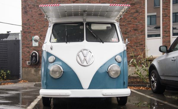 solar powered VW bus 1
