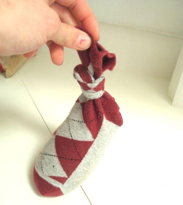 Old socks can make good massage packs