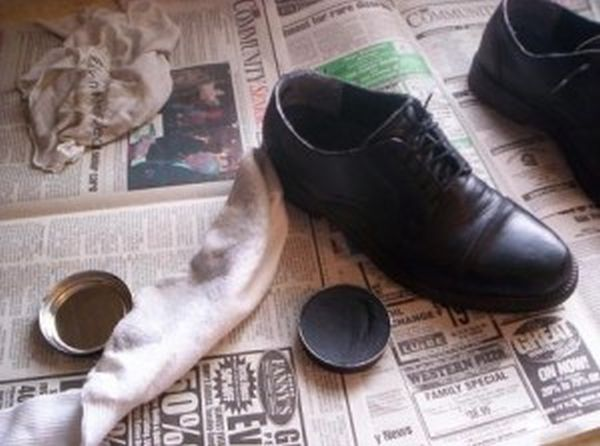 Polish your shoes with old socks