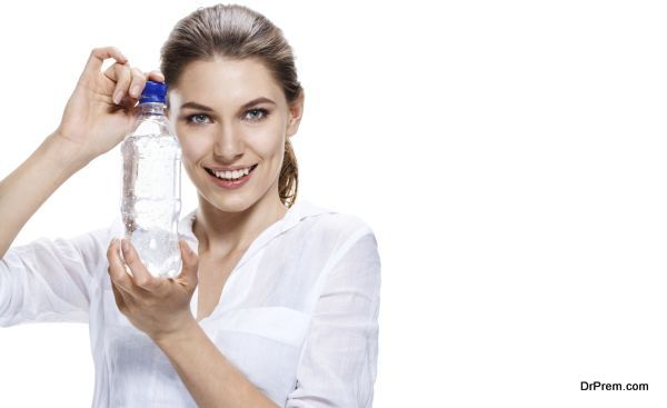 lady with water bottle