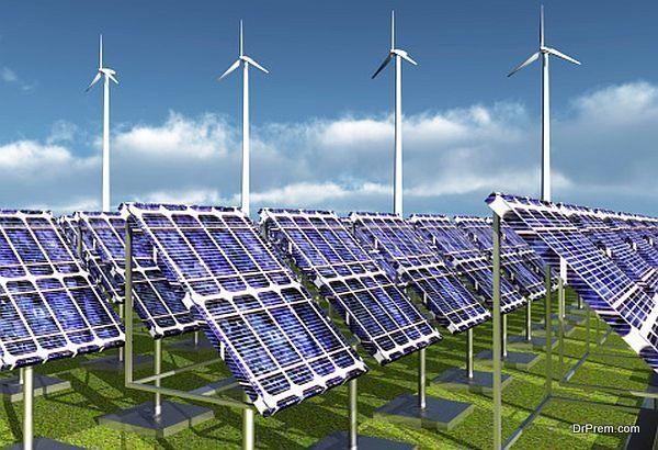 Solar Power Plant and Wind Farm