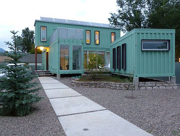 aesthetically pleasing structures built by recycling shipping containers ecofriend. Black Bedroom Furniture Sets. Home Design Ideas
