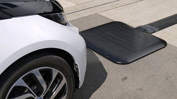 drive your car onto a charging pad