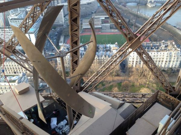 wind turbines on Eiffel Tower