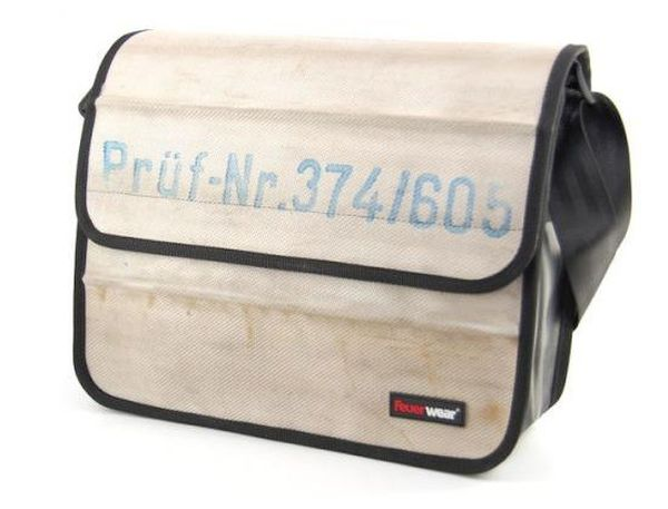 Laptop bag made from fire hose