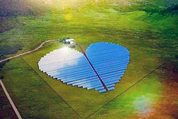 Heart-shaped Solar Plant
