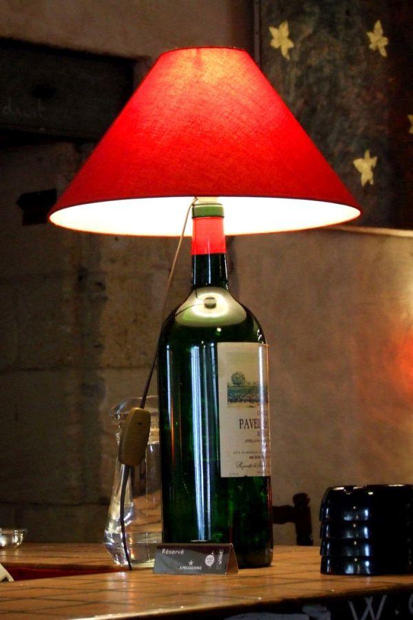 Muscat California Wine Bottle Lamp