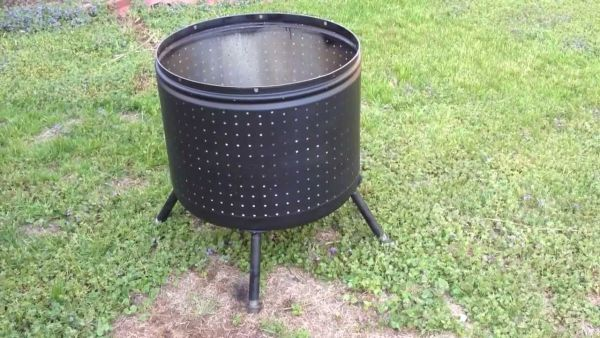 Repurposing old items to create a killer DIY fire pit ...