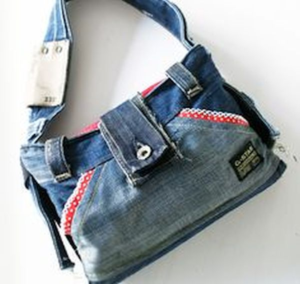 old jeans Bags