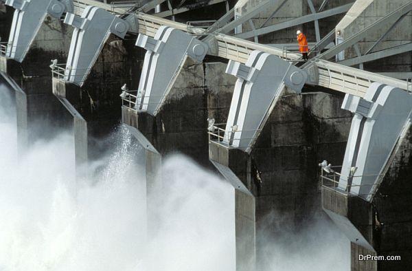 Huge Industrial Dam