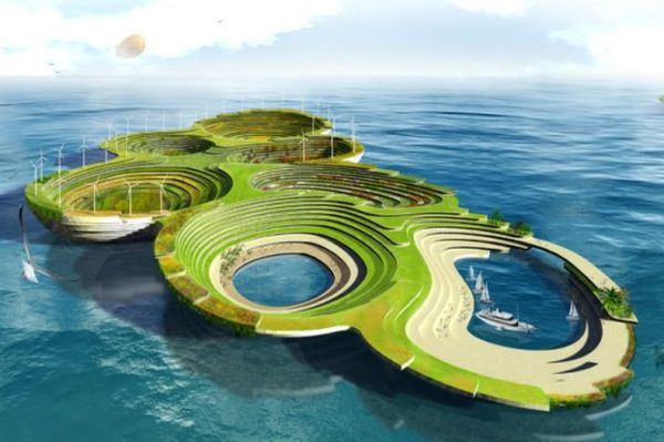 Prefab Self-Sustaining Floating City