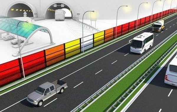 Solar powered traffic noise blockers  (2)