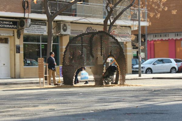 cardboard elephant  at Fallas festival (1)