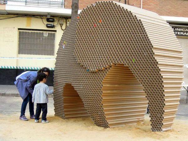 cardboard elephant  at Fallas festival (2)