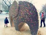 recycled cardboard elephant (2)