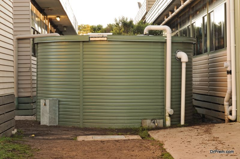 Set up rainwater collection systems