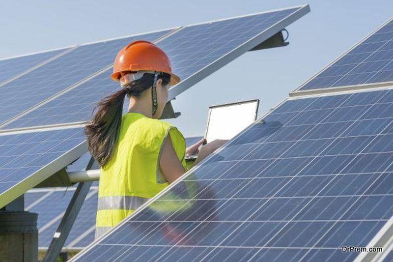 solar panels on-site