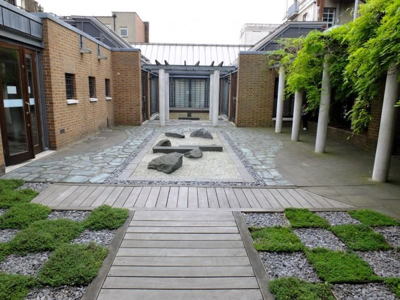 The Japanese Roof Garden, situated in Central London,
