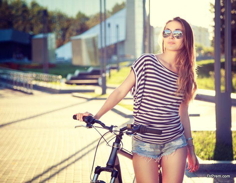 Girl with Bike