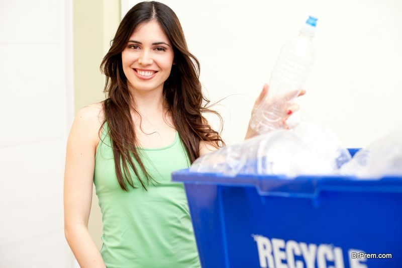 Recycled-water-bottles