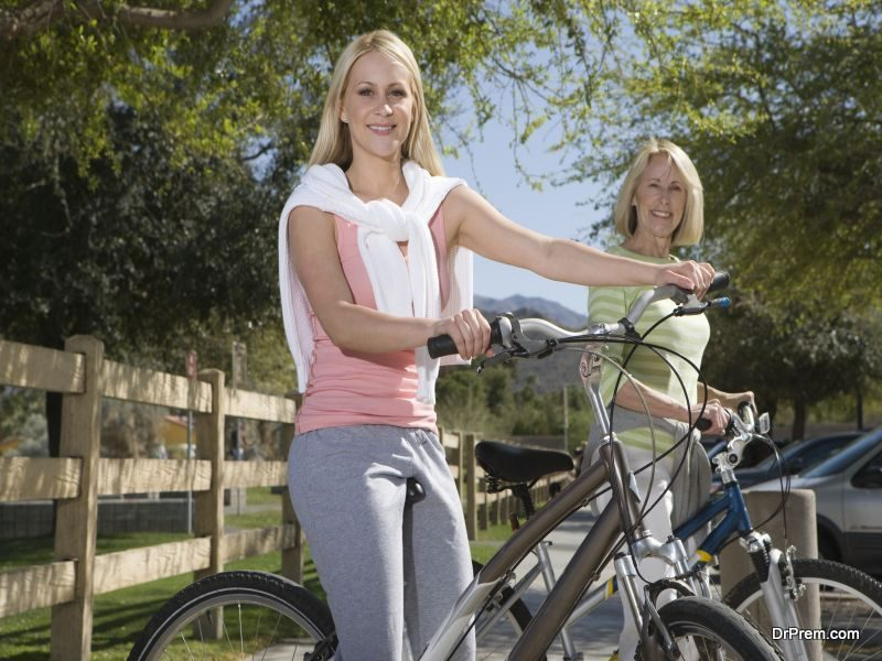 biking to nearest locations